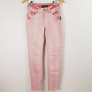 Silver Jeans Suki Skinny Mid Rise in Light Pink